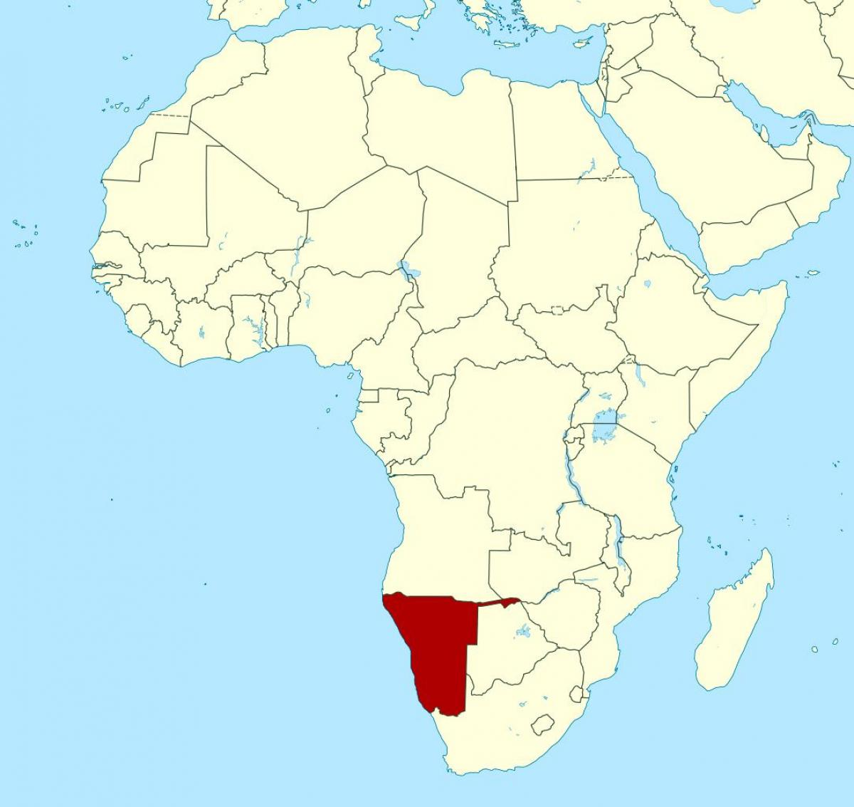 Map of Namibia africa