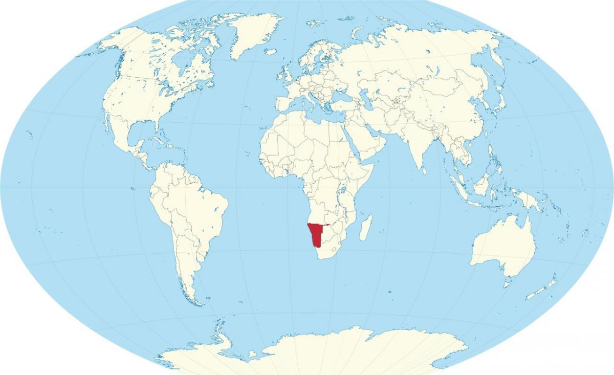 Namibia location on world map