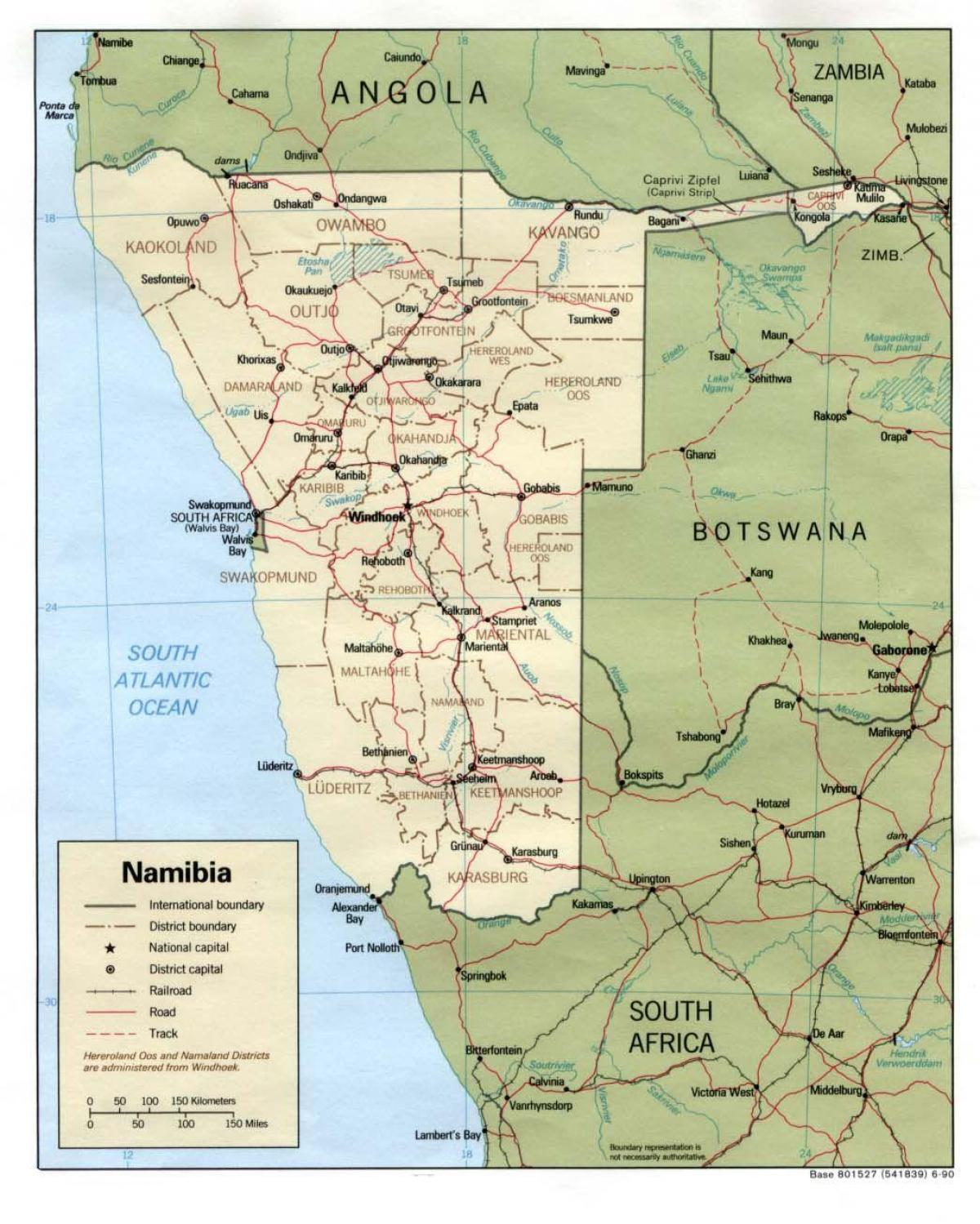 Map of Namibia travel