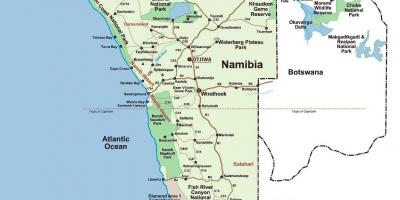 The map of Namibia